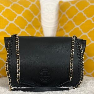 🌸OFFERS?🌸Tory Burch PebbledLeather WhipstitchBag
